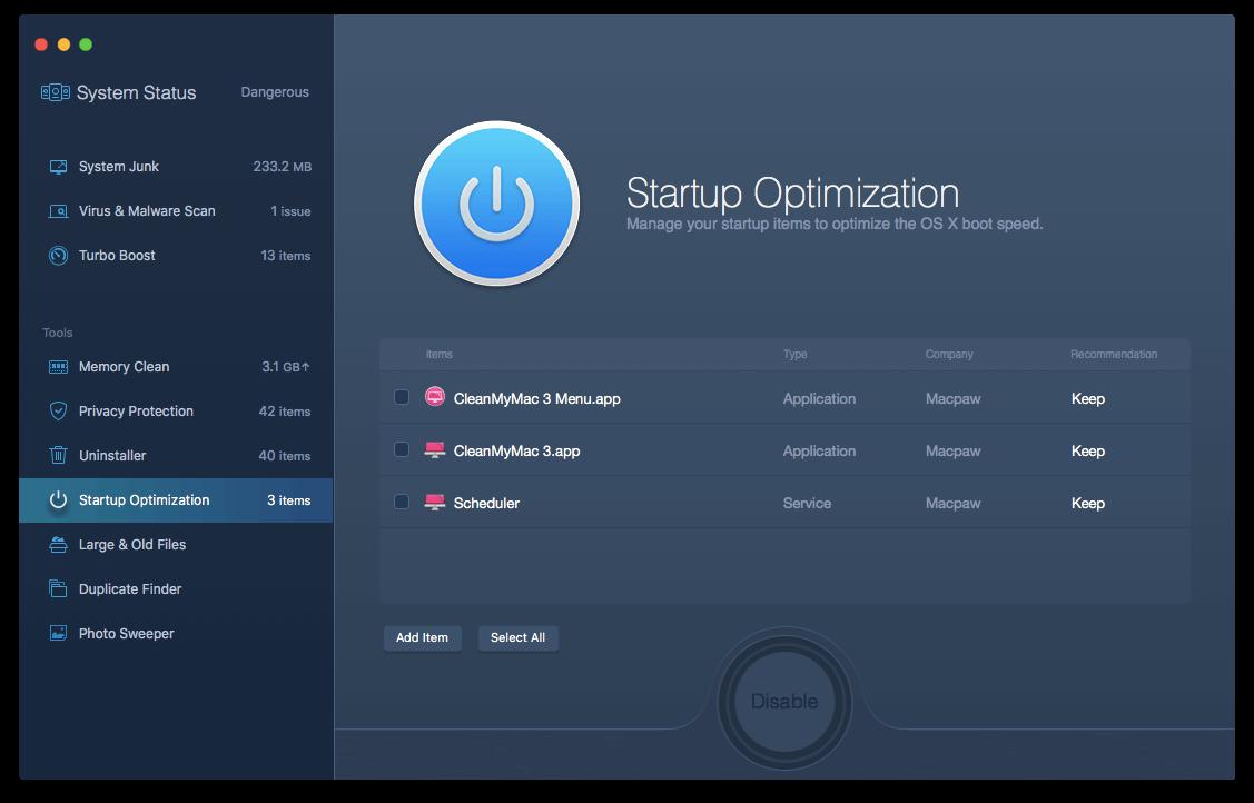 Startup Optimization